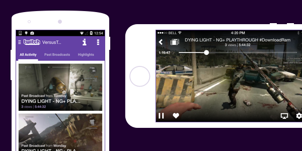 twitch mobile video on demand