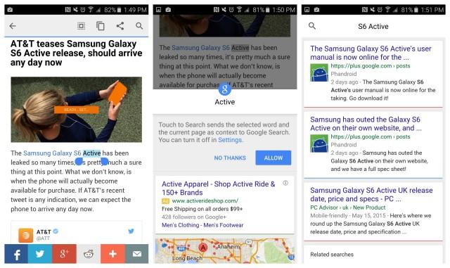 Google Chrome text search