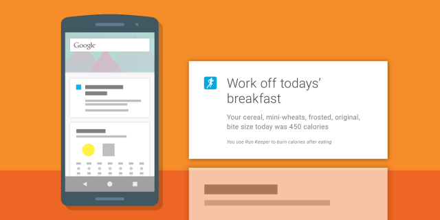 Google Fit Runkeeper meal data