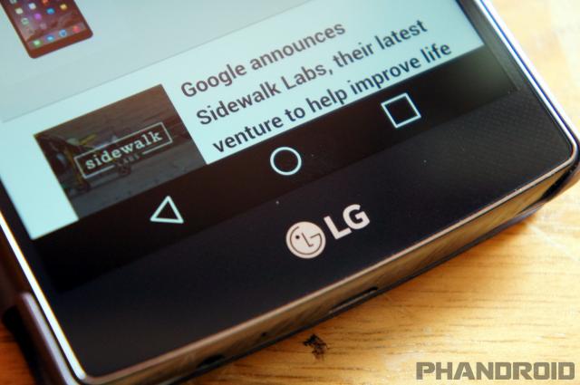 LG G4 nav bar