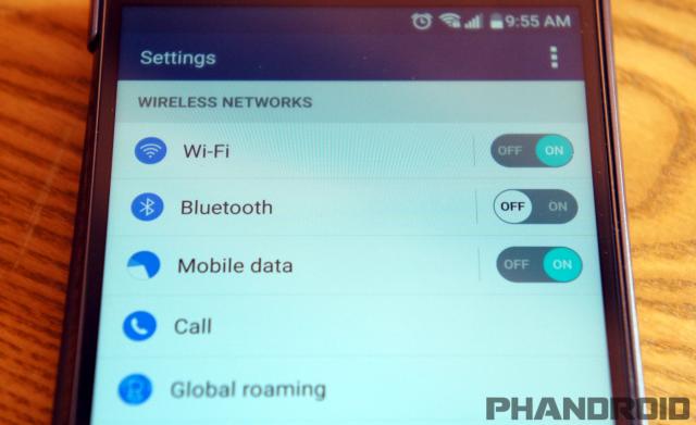 LG G4 settings