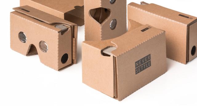 OnePlus VR cardboard headset