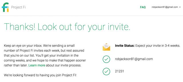Project Fi Status Invite