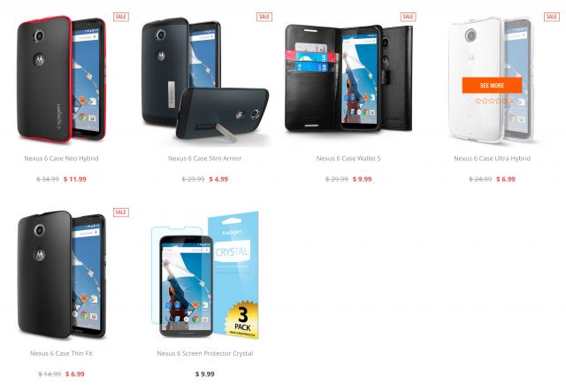 Spigen Nexus 6 case sale