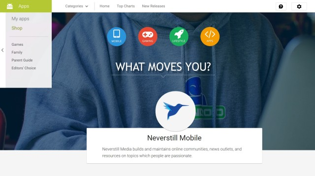 neverstill google play page