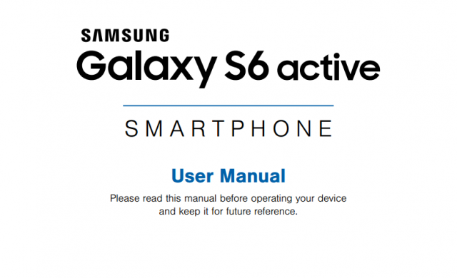 samsung galaxy s6 active manual
