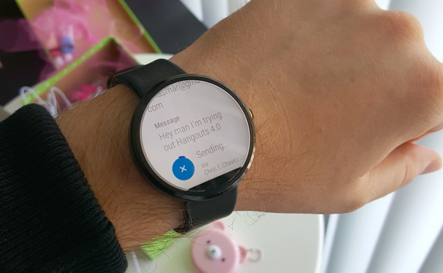 Hangouts 4.0 leak Android Wear