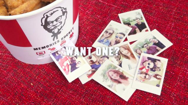 KFC Memories Bucket photo printer