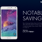Samsung Galaxy Note 4 Notable Savings promo