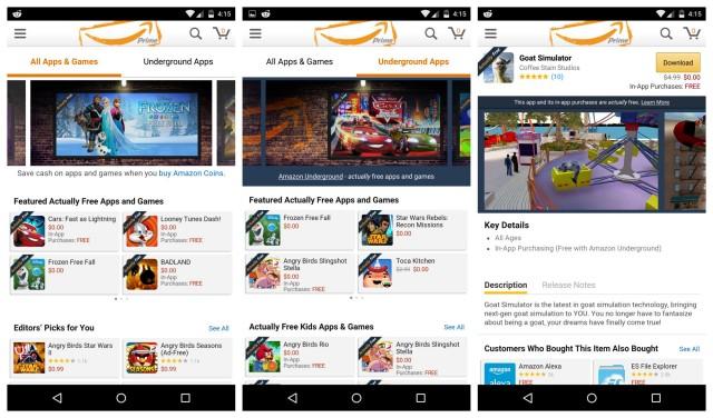 Amazon Underground app screenshots