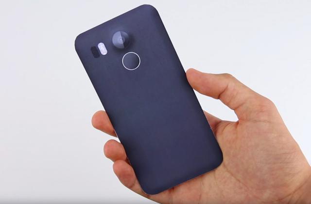 LG Nexus 2015 mockup side comparison