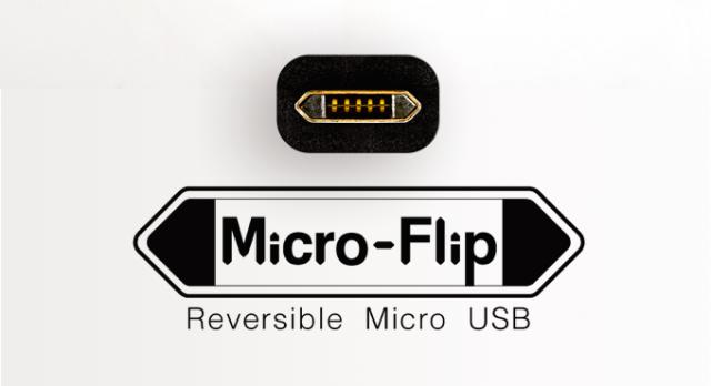 Micro-Flip reversible micro USB
