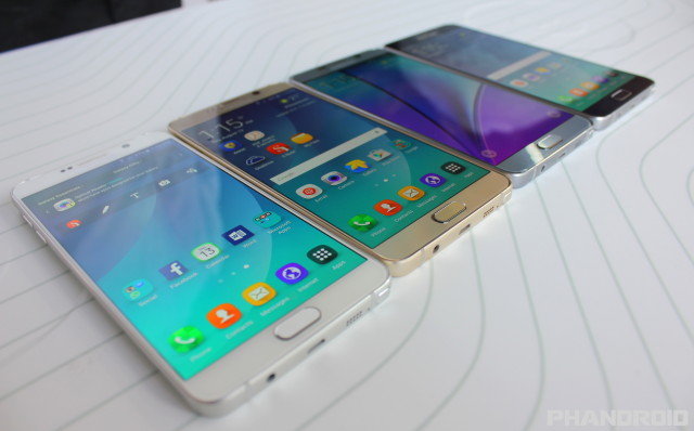 Samsung Galaxy Note 5 colors