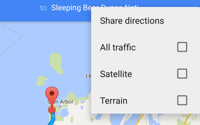 google maps share