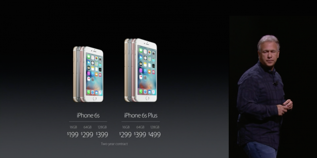 Apple iPhone 6s pricing