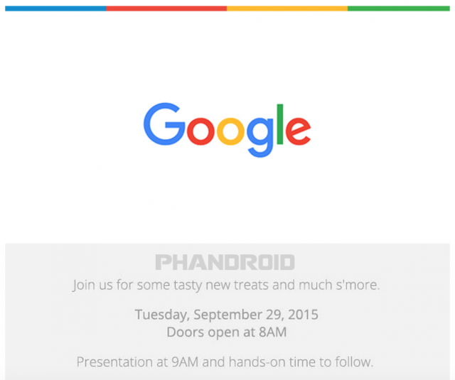 Google Sept 29th invite Phandroid