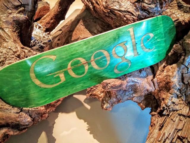 Google logo skateboard