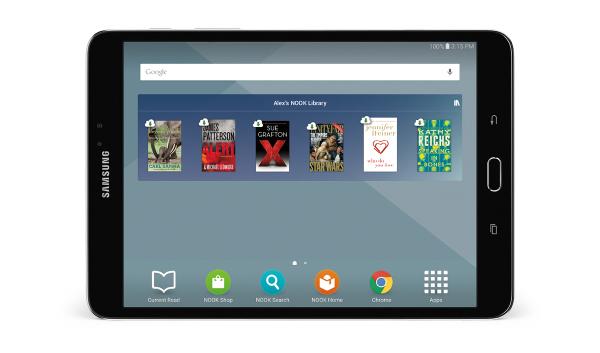 Samsung Galaxy Tab S2 Nook landscape