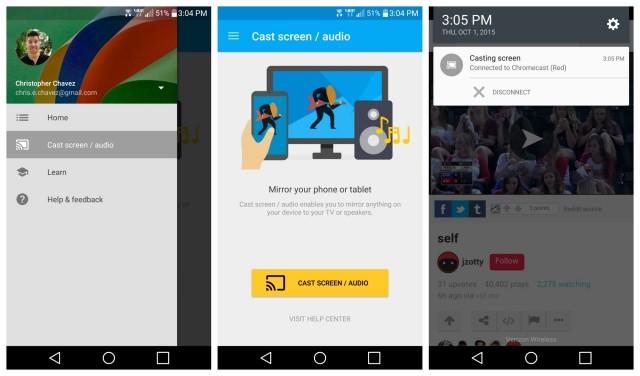 Chromecast 2015 Cast screen audio