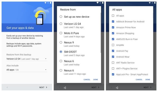 Nexus 6P restore apps and data