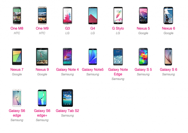 T-Mobile devices scheduled to get Marshmallow