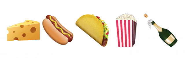 Unicode 8.0 emoji food