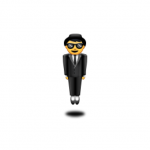 Unicode 8.0 emoji levitating