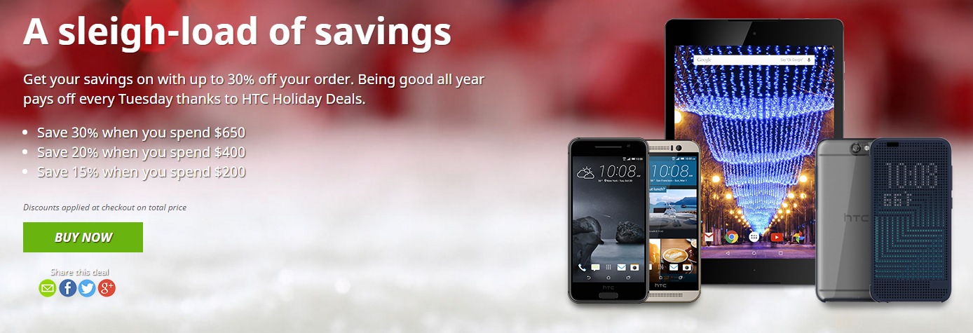 Deal: Up to 30% off HTC products for this week's # ...