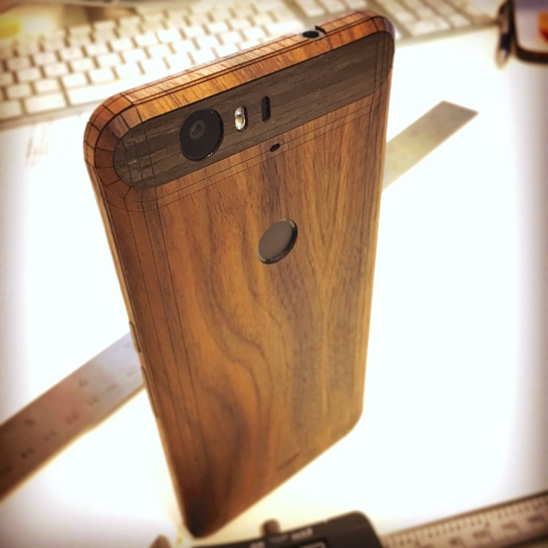Toastu2019s Nexus 6P wood covers are now available, mix and match inlays ...