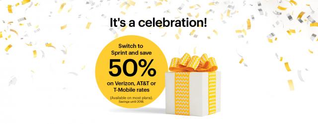 Sprint 50 percent off