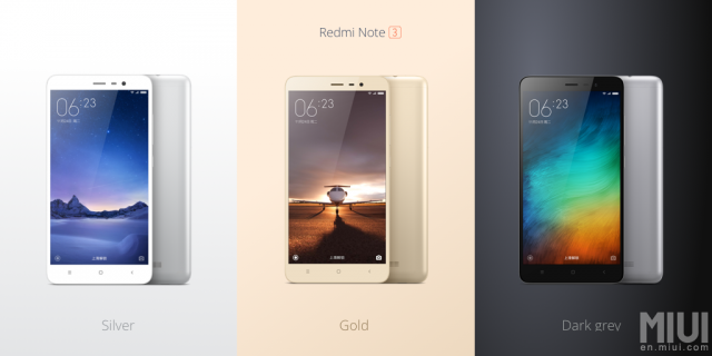 xiaomi redmi note 3 colors