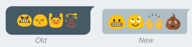 Android emoji old vs new