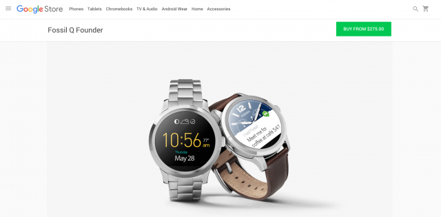 Fossil Q Founder Google Store