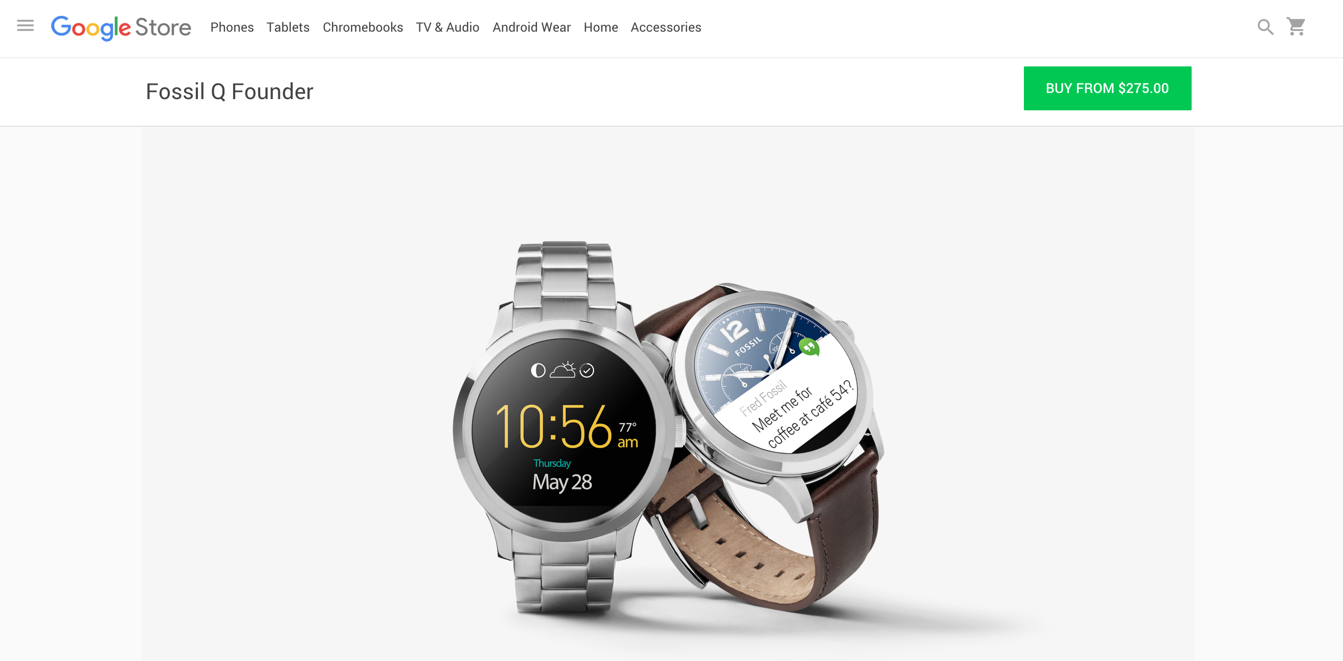 Fossil Q Founder with Intel processor now available from ...