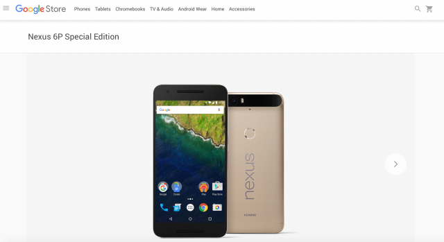 Nexus 6P Special Edition Gold Google Store