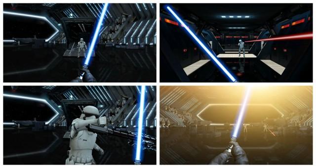 Star Wars Lightsaber Escape Chrome Experiment