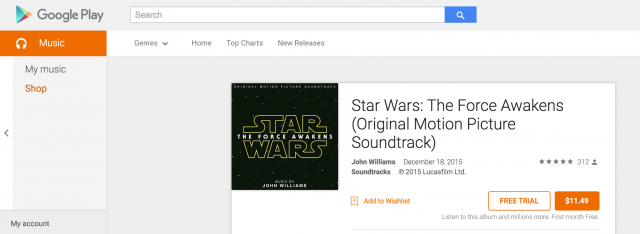 Star Wars The Force Awakens Original Motion Picture Soundtrack