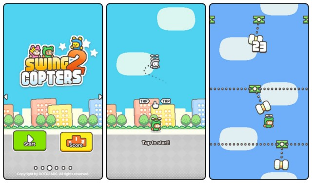Swing Copters 2 screen shots