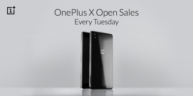 oneplus x open-sale every tusday