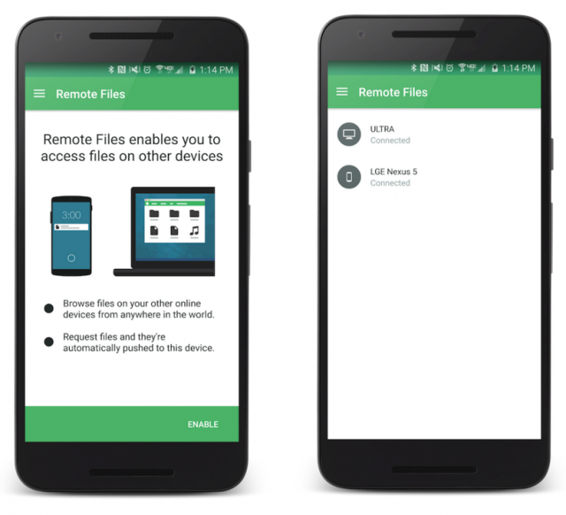 pushbullet remote files 1