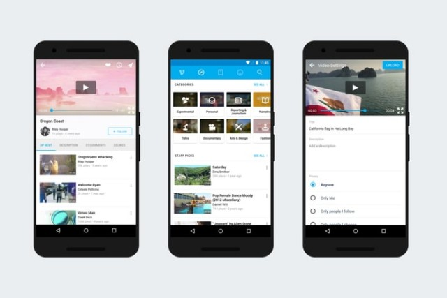 vimeo for android update