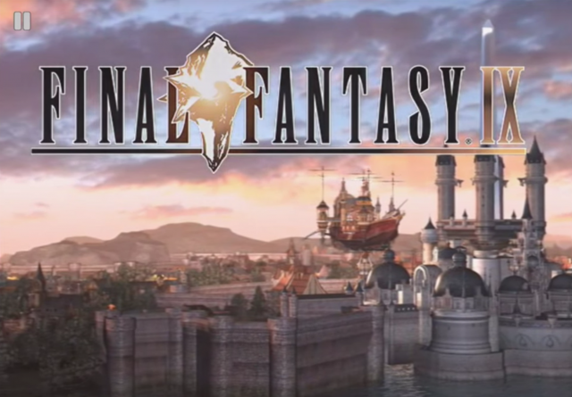 Final Fantasy IX 9 title screen Android iOS