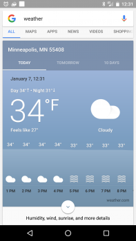 Google Weather app