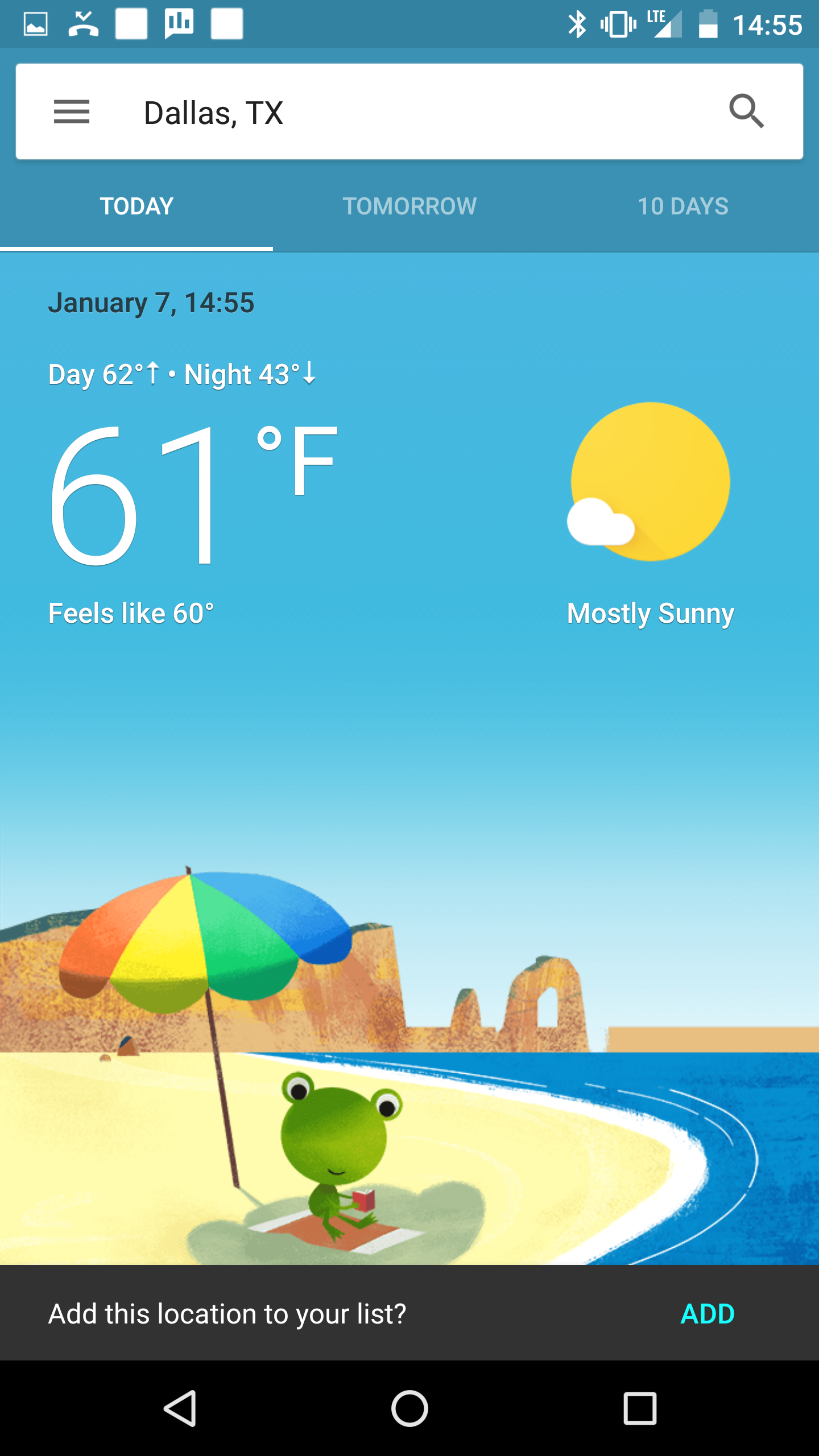 Google seems to be testing a beautiful new weather interface