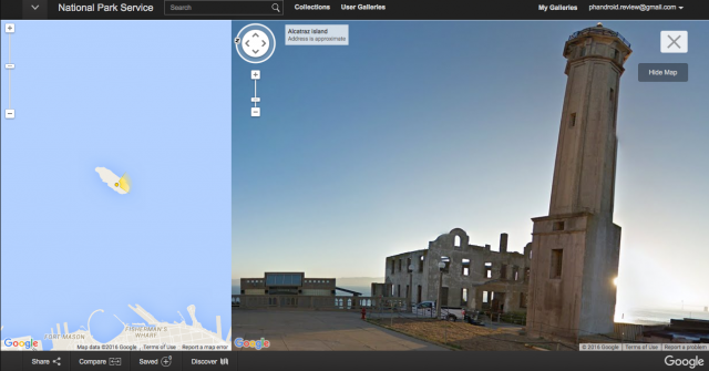 Google Street View US National Park Service