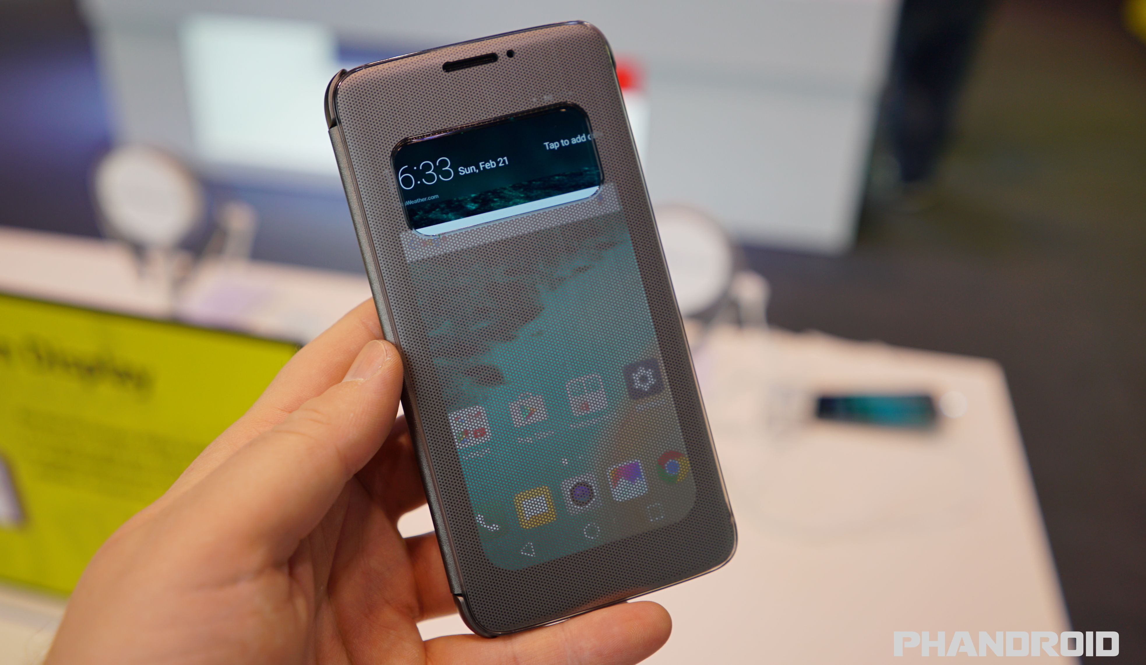 Lg G5 S Quick Cover Case Makes It Easy To Answer Calls
