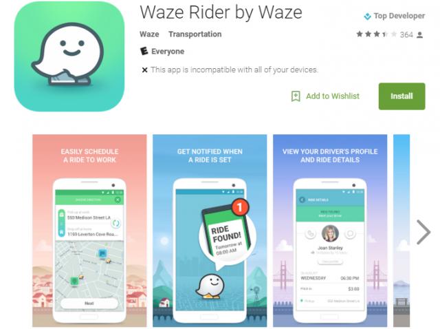 waze rider play store