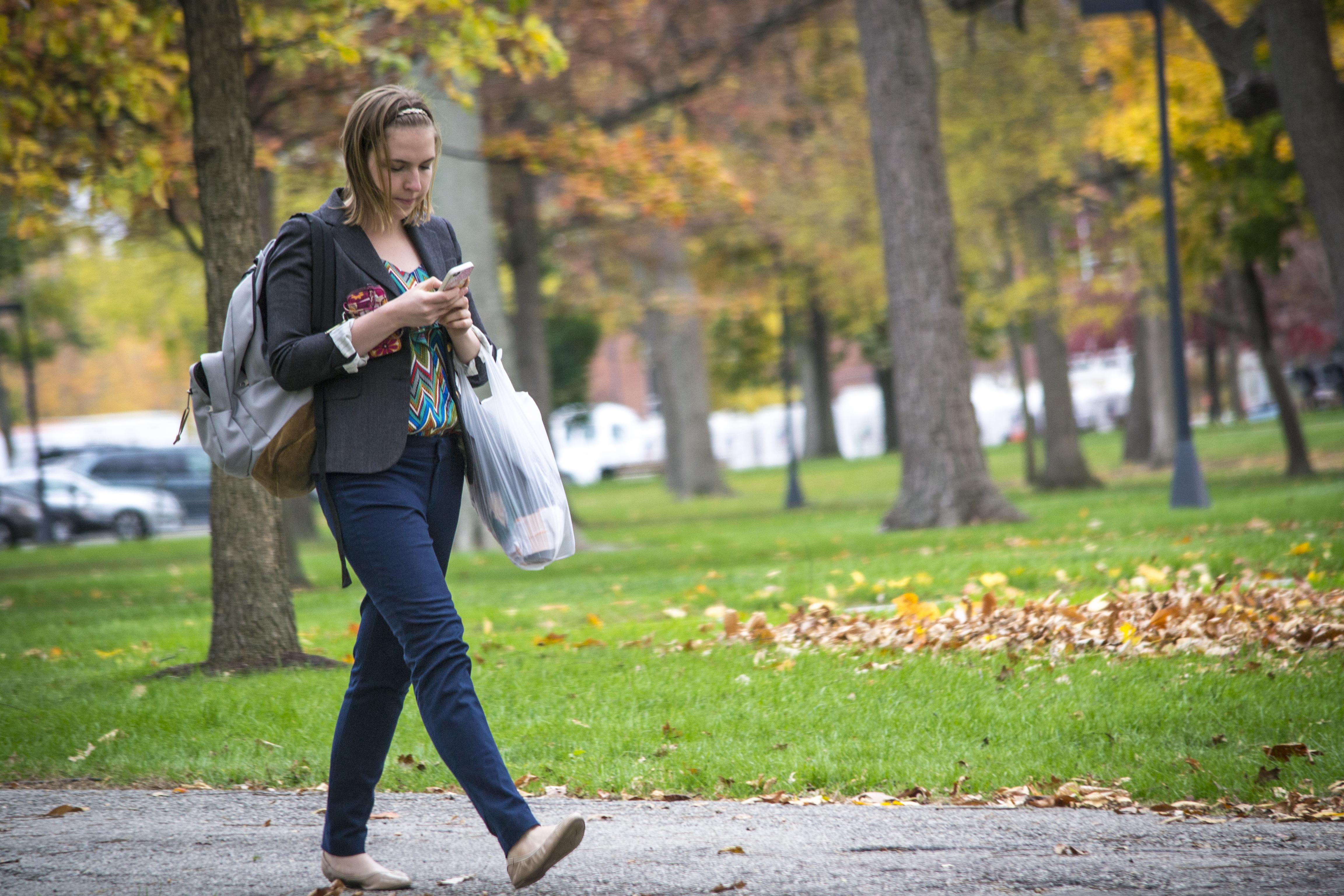 Walking while texting ...