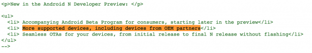 Android Beta Program OEM partners code