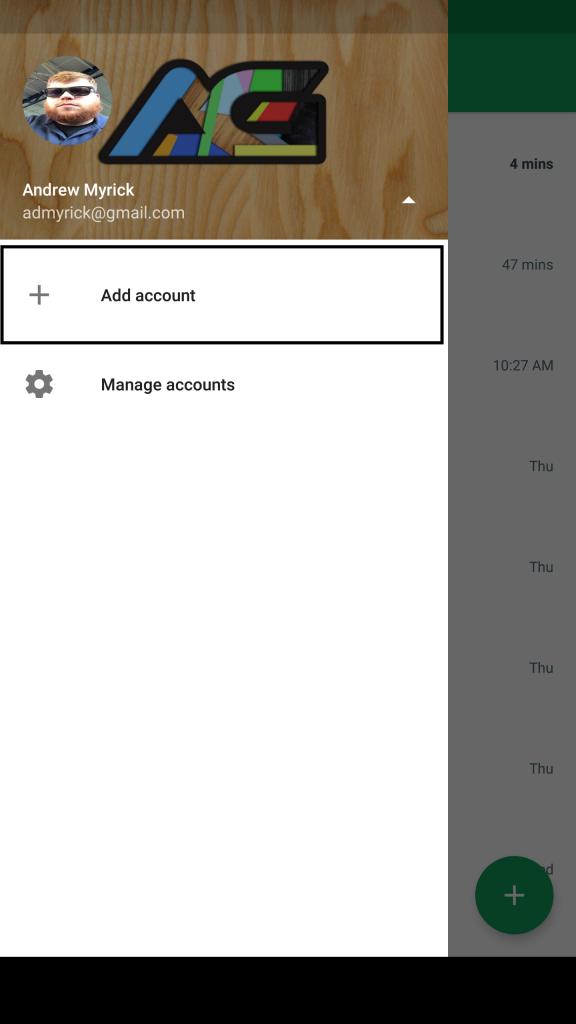 Hangouts Add Account